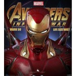 [PRE-ORDER] Queen Studios - Avengers Infinity War - Mark 50 Iron Man (Battle-Damaged Edition) LIFE SIZE BUST