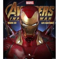 [PRE-ORDER SOLD OUT] Queen Studios - Avengers Infinity War - Mark 50 Iron Man (Battle-Damaged Edition) LIFE SIZE BUST