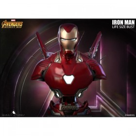 [SOLD OUT] Queen Studios - Avengers: Infinity War - Mark 50 Iron Man Life Size Bust